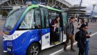ALL ABOARD THE DRIVERLESS SHUTTLE
