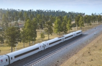 Artist impression of high speed rail.