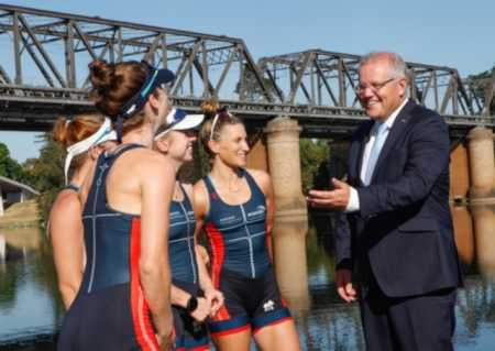 Scott Morrison campaigning in Western Sydney. Image courtesy: Western Weekender.