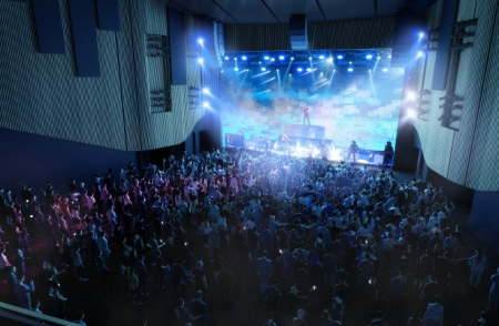 Artist impression of the venue in conert mode.