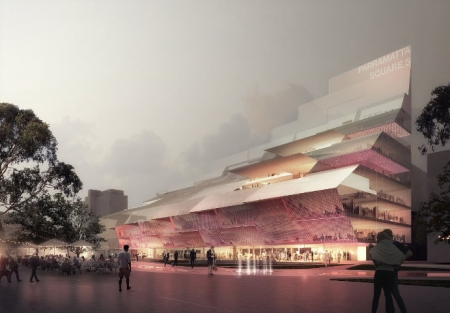 Artist impression of Parramatta Square.