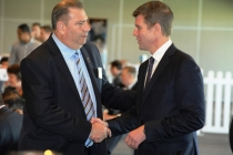 GBBC president Trevor Oldfield with NSW Premier Mike Baird recently.