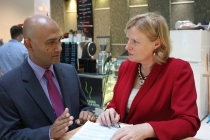 Marlon Fraser from Moore Stehpens with Parramatta MP, Julie Owens.