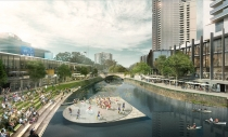Artist impression of an evolving Parramatta CBD.