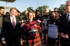 The Prime Minster with ther Wanderers in western Sydney last week.
