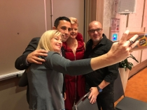 Salvo selfies: Lee Usher from Buzz Web Media, Alex Hazari from Taylor Nicholas, Stephanie Dale, Western Sydney Red Sheild Appeal Chair and keynote spkeaer, Justin Herald.