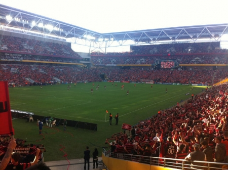 The electric atmosphere at Suncorp Stadium for the A- League decider.