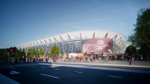 Artist impression ofd the stadium.