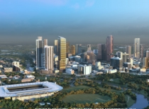 Artist impression of future Parramatta.
