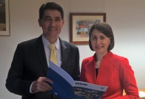 Geoff Lee with Gladys Berejiklian MP, NSW Treasurer.