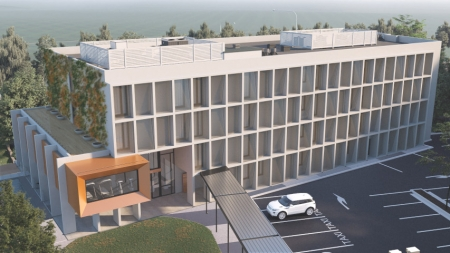 Artist impression of the front iamge of the new Mercure Rouse Hill.