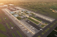 Artist impression of the runway at Western Sydney Airport.