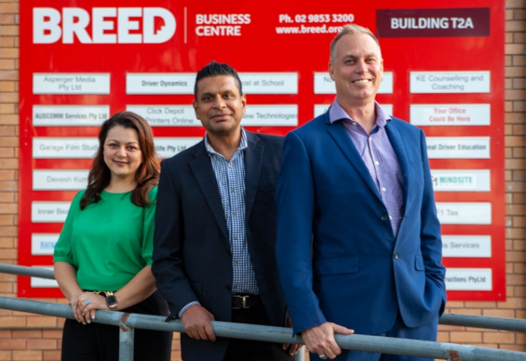 From left: Yasmine Shah (independent director), Emmanuel Martin (general manager), Nathan Burbridge (chairman).