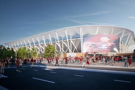 Artist impression of Western Sydney Stadium.