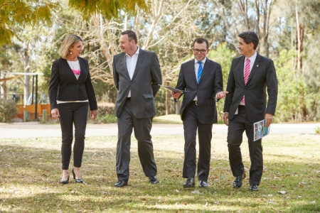 Amanda Brisot, David Borger, Adam Marshall and Member for Parramatta, Geoff Lee.