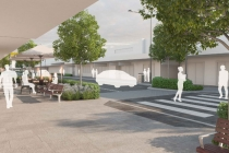 Artist impression of the upgraded High St, Penrith.