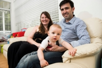 Blacktown family Tristram and Leanne Larwood with 13-month old Aiden: The couple married in September 2013 and managed to contain their wedding cost to about $16,000 - despite having 110 guests. When you consider the average cost of a wedding is more than twice that amount, the couple did well. As a result of saving on their wedding and honeymoon they were able to put down a deposit on their $500,000 Blacktown house with a pool.