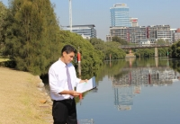Geoff Lee at Parramatta River.