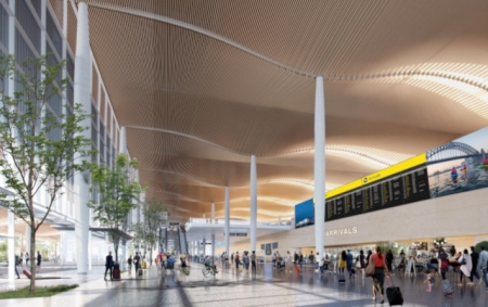 Artist impression of the new airport.