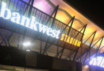 The new lighting at Bankwest Stadium.