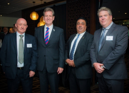 Parramatta Chamber of Commerce President Roger Byrne, NSW Premier Barry O'Farrell, Parramatta Lord Mayor John Chedid and CBA executive Rob Darroch.