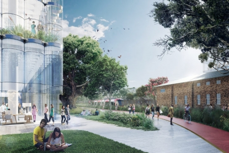 Artist impression of the health precinct.