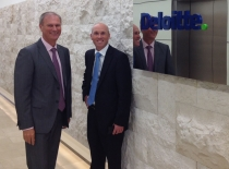Deloitte's Danny Rezek with Stewart Thompson from Moore Stephens after the announcement.