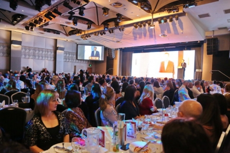 The Sydney Hills Small Business Awards in progress at Castle Hill RSL.