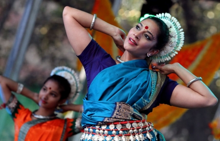 A performer at this year's Parramasala.