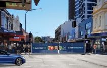 Light Rail works at Parramatta.