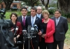 Premier Mike Baird, with Transport Minister Gladys Berejiklian MP, Geoff Lee MP, Lord Mayor Scott Lloyd, Health Minister Jillian Skinner MP, and Tony Issa MP.