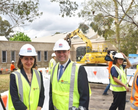 Premier Gladys Berejiklian and Minister for Western Sydney and Member for Penrith Stuart Ayres.