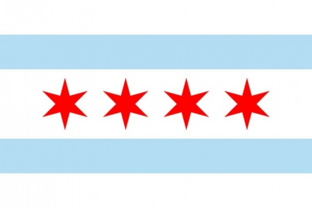 The striking simplicity of city flags that the people embrace such as Chicago.