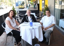 Merrynne Diacos, Clr Dr Michelle Byrne, Billy Diacos at Billy the Greek.