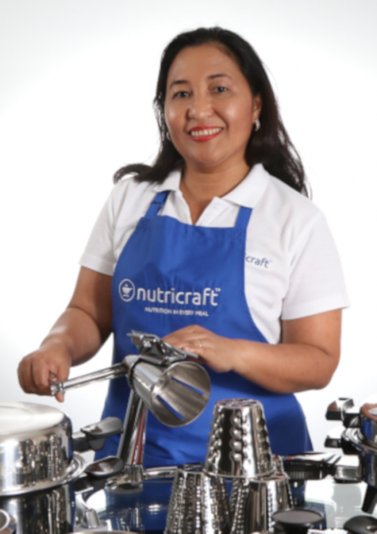 Judith Viado with her health-boosting cookware.
