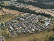 Then rapidly growing Hills district looking towards new housing developments at Rouse Hill.