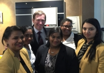 Blacktown Mayor, Stephen Bali with members of the Century 21 Quakers Hill team at the opening.