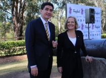 Geoff Lee and Lucy Turnbull