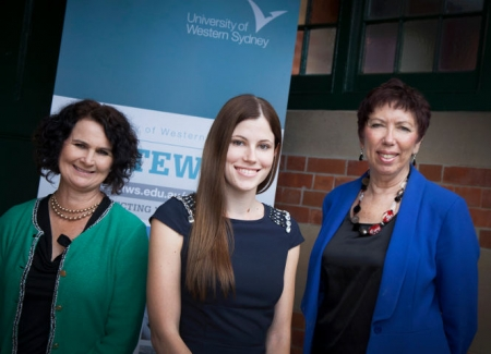 The UWS Gateway Team – from right – Suzie Wright, Sam Ewart, Keren Lavery.