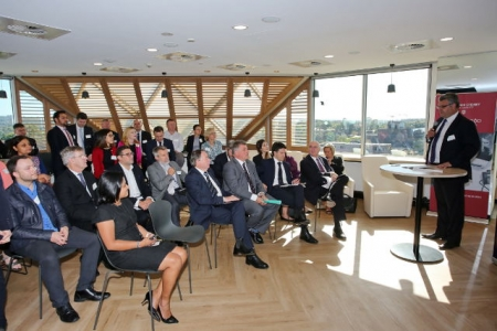 KPMG managing partner for Western Sydney, David Pring addresses guests at the launch last week.