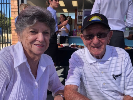 Trevor Simpson and his wife of 47 years, Marie,